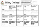 Holiday Homework Challenge
