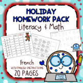 Holiday Homework Pack - FRENCH