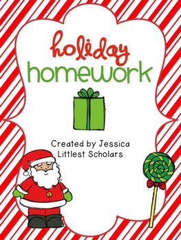 holiday homework pack freebie by jessica littlest scholars. Black Bedroom Furniture Sets. Home Design Ideas