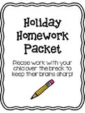 Holiday Homework Packet