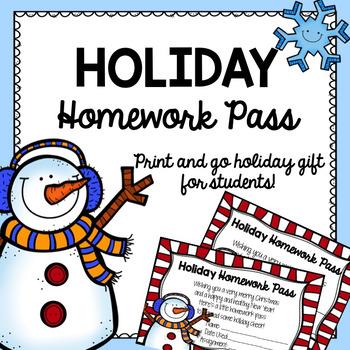 Holiday Homework Pass