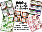 Holiday Homework Pass Bundle