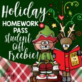 Holiday Homework Pass {FREE}