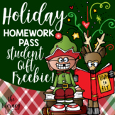 Holiday Homework Pass {FREE}