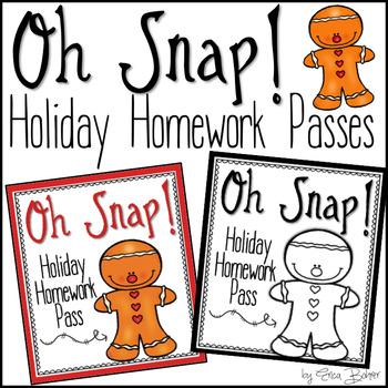 Holiday Homework Pass FREEBIE {Oh Snap!}