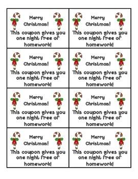 Holiday Homework Passes!