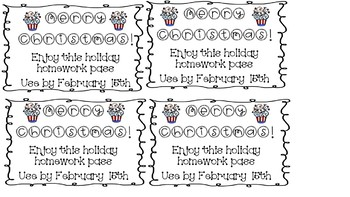 Holiday Homework Passes