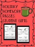 Holiday Homework Passes Christmas Holiday Gift For Students