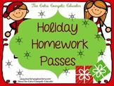 Holiday Homework Passes {FREEBIE}