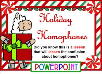 Holiday Homophone in POWERPOINT
