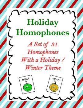 Holiday Homophones {FREE}