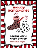 Holiday Homophones  Word Work Center