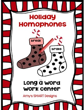 Holiday Homophones  Word Work Center