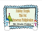 Holiday Hoopla Math Center Mini Set Multiplication Snowmen