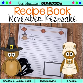 Thanksgiving Holiday Recipe Book