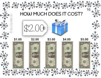 Holiday How Much Does It Cost Using Dollar Bills? Task Cards