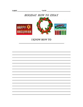 Holiday How-To Essay