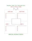 Holiday How To Wrap a Gift 4 Square Template