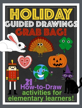 Holiday How to Draw Bundle of 21 Guided Drawings