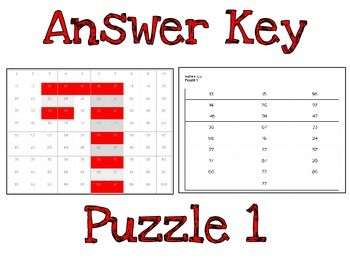 Holiday Hundred Chart Puzzles