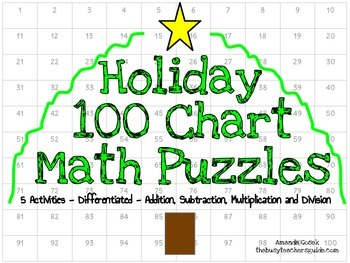 Holiday Hundred Chart Puzzles