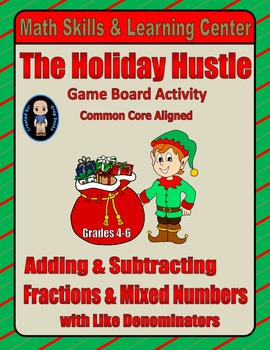 "Christmas Math Skills & Learning Center (Add & Subtract ""L"