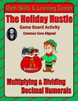 Christmas Math Skills & Learning Center (Multiply & Divide Decimals)