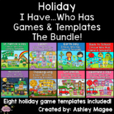 Holiday I Have Who Has Games and Editable Templates Growin