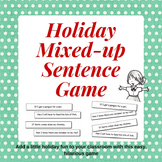 Holiday Mixed-up Sentence Game