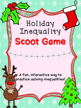 Holiday Inequality Scoot Game - TEKS 4.5a