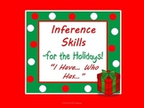 """Holiday Inference Game """"I Have...Who has..."""" & Coloring Pa"""