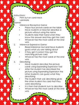 Holiday Inference and Describing Cards