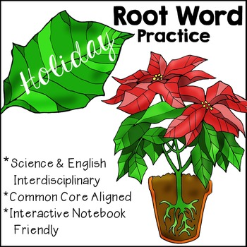 Holiday-Inspired Root Word Practice, Christmas-Inspired Ro