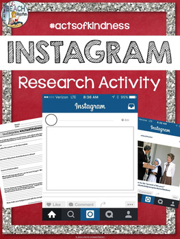 Free Instagram Research Activity for Any Secondary Class