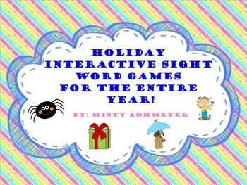Holiday Interactive Smart Board Games for the Entire Year!