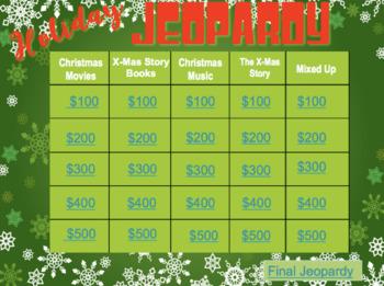 Christmas Jeopardy.Holiday Christmas Jeopardy