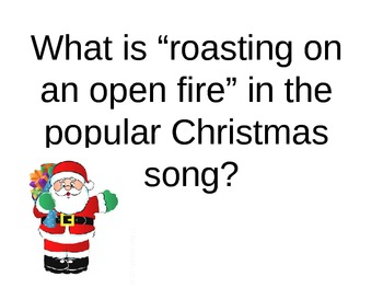 Holiday Jeopardy Game