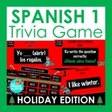 Spanish Christmas Activity   Spanish 1 Review Holiday Jeopardy-style Trivia Game