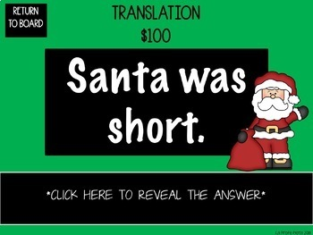 Holiday Jeopardy-style Trivia Game for Spanish 2 Review