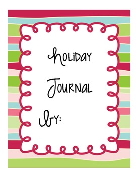 Holiday Journal Covers Freebie