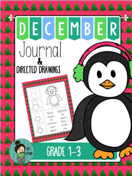 Christmas Journal Prompt with Directed Drawing December FREE