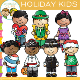 Kids Holiday Clip Art