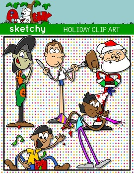 Holiday Kids Clip art - FREEBIE