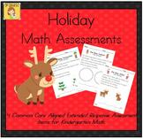 Holiday-Themed Kindergarten Math Extended Response Bundle