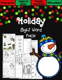 Christmas Kindergarten Sight Word Pack