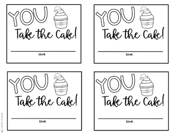 Holiday Kindness Cakes (Gift Tags)