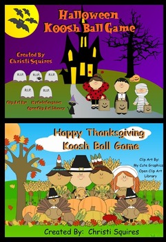 Holiday Koosh Ball SMARTBoard Games