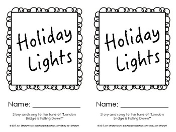 Holiday Lights Song & Cut-and-Paste Book