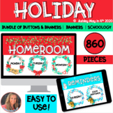 Holiday Canvas and Schoology LMS Buttons and Banners Bundle