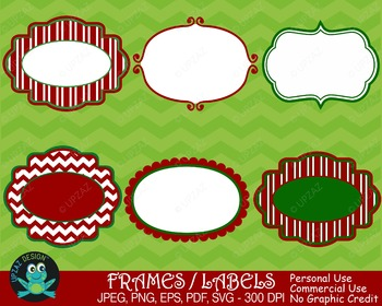 Holiday Frames (Upzaz Digital Clipart)